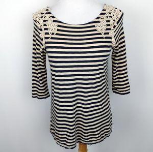 Anthropologie Deletta Striped Knit Top | sz M